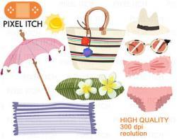 Bikini clipart beach sunglass