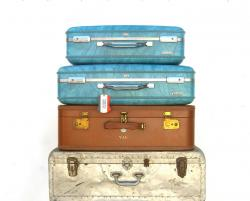 Suitcase clipart old fashioned