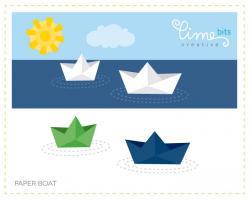 Tugboat clipart blue boat