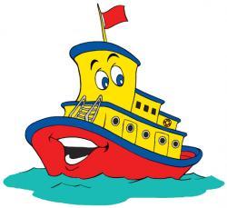 Tugboat clipart cartoon