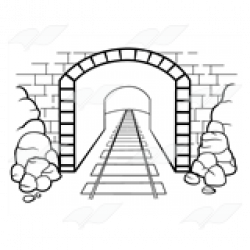 Tunel clipart black and white