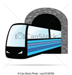 Tunel clipart train tunnel