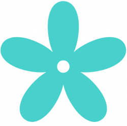 Floral clipart turquoise