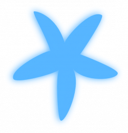 Dolphines clipart blue starfish