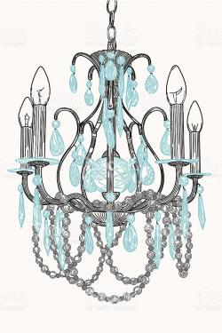 Chandelier clipart vector