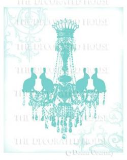 Chandelier clipart teal