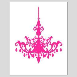 Chandelier clipart pink chandelier