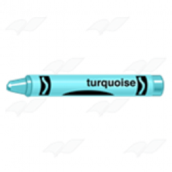Crayon clipart turquoise