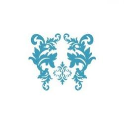 Damask clipart turquoise