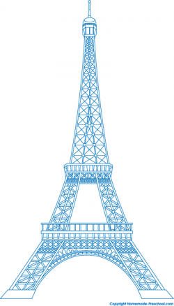 Eiffel Tower clipart turquoise