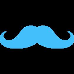Light Blue clipart mustache