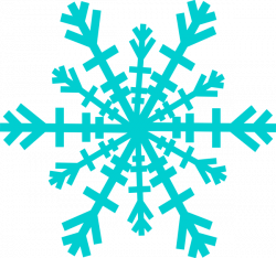 Snowflake clipart turquoise