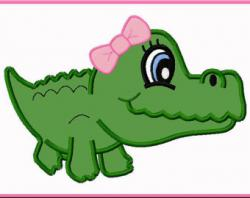 Girl clipart alligator