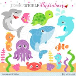 Dolphines clipart ocean life