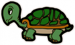 Slow clipart turtle head
