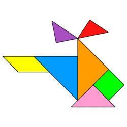 Tortoise clipart tangram
