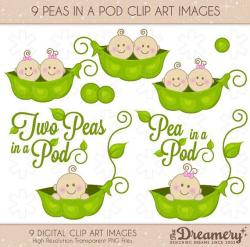 Pea clipart twins baby shower