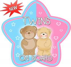 Twins clipart board car sign