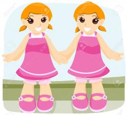 Twins clipart identical twin