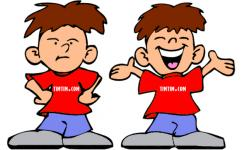 Twins clipart old brother