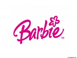 Barbie clipart the word