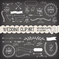 Wedding clipart chalkboard