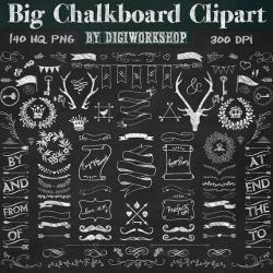 Decoration clipart chalkboard