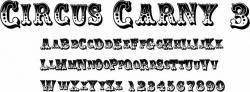 Typeface clipart circus