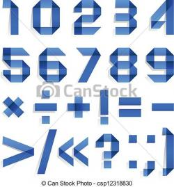 Typeface clipart folded