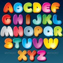 Typeface clipart funky