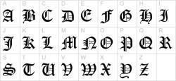 Typeface clipart german