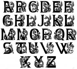 Typography clipart medieval