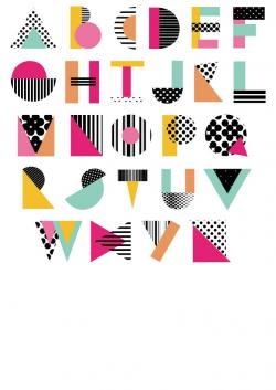 Typeface clipart graphic