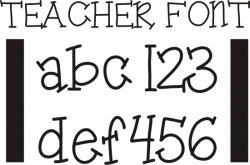 Typeface clipart kindergarten