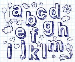 Drawn decoration font