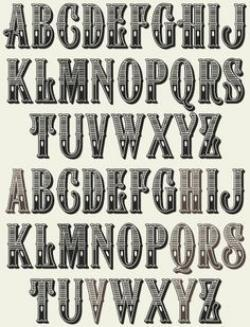 Typography clipart western