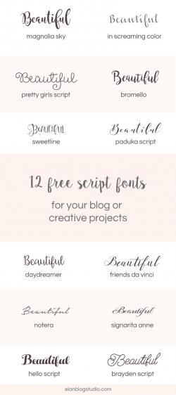 Typeface clipart script font