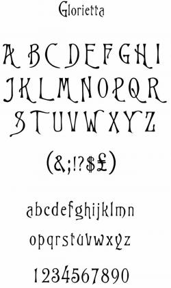 Typeface clipart victorian