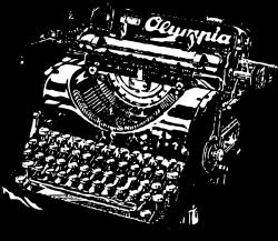 Drawn typewriter vintage drawing