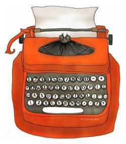 Typewriter clipart book author