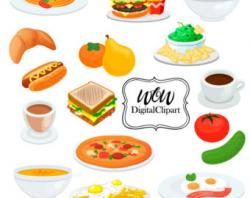 Typography clipart breakfast lunch dinner