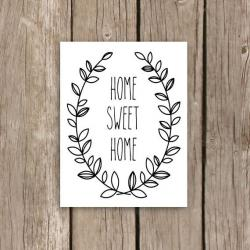 Typography clipart home sweet home