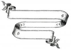 Victorian clipart ribbon