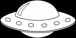Saucer clipart alien ufo
