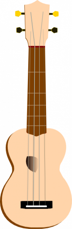 Ukulele clipart colored