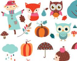 Scarecrow clipart autumn animal
