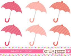 Umbrella clipart coral