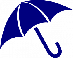 Umbrella clipart navy blue