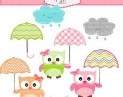 Umbrella clipart owls