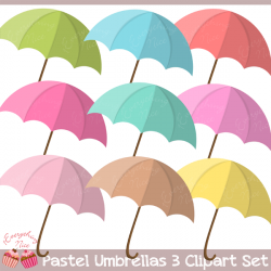 Umbrella clipart pastel